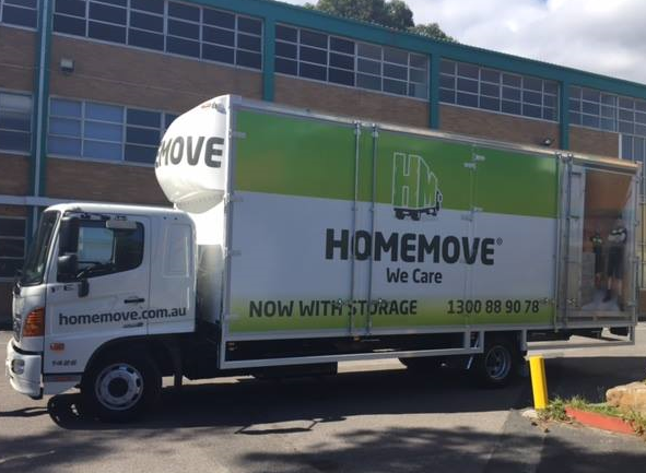 Removals & Storage Truck at HomeBase