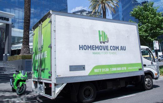 image showing melbourne removalists carrying our a removal in the cbd