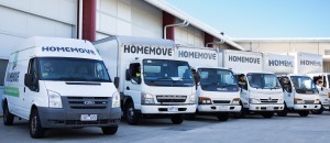 image showing melbourne movers, trucks and vans at homemove