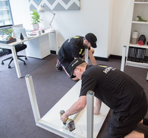 image showing melbourne removalists packing an office
