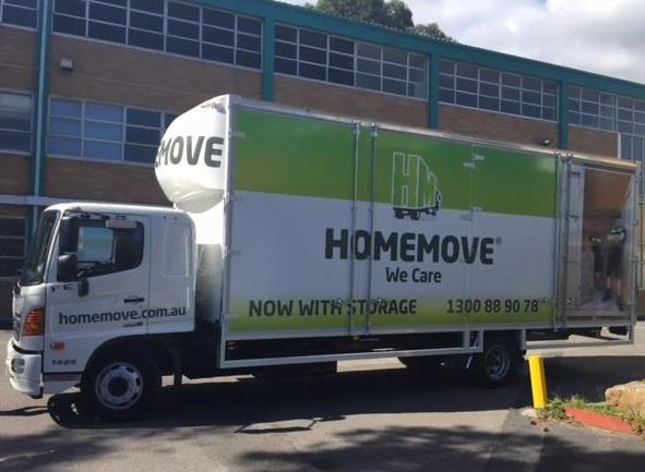 Removals & Storage Truck at HomeBase